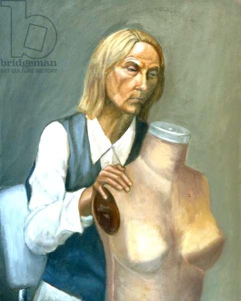 The Dressmaker, 2002, (oil on canvas)