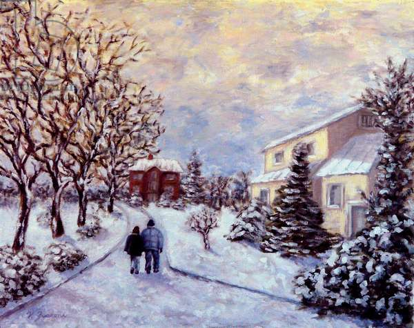 Home in the Snow, 2011, (oil on canvas)