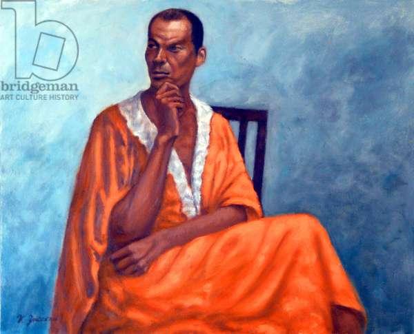 The Orange Robe,2010, (oil on canvas)