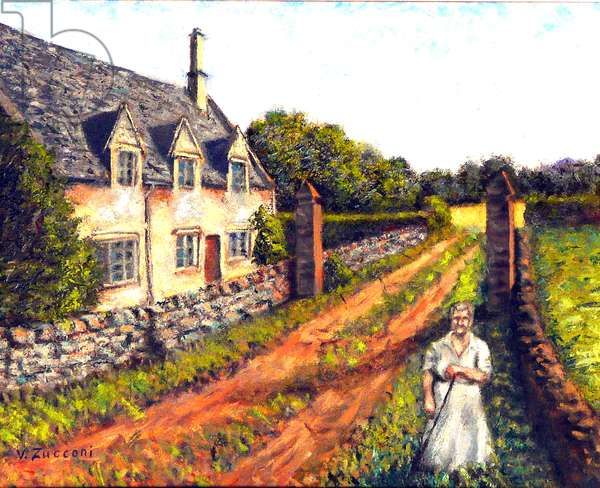 Cotswold Cottage, 2006, (oil on canvas)