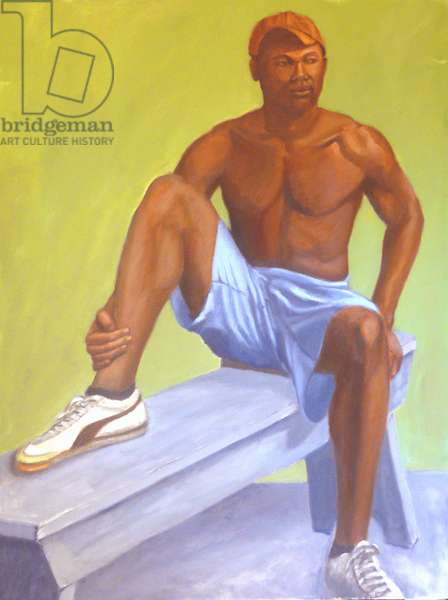 Basketball Player, 2001, (oil on canvas)
