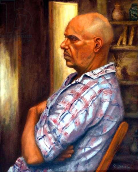 Balding Man, 2006, (oil on canvas)