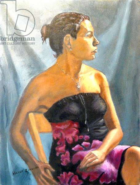 Lavender Dress, 2000, (oil on canvas)