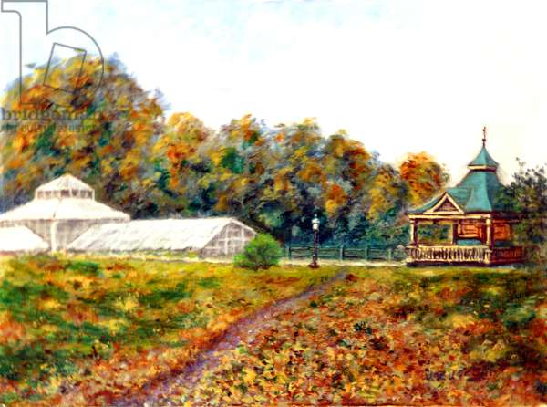 The Glass House, 1999, (oil on canvas)