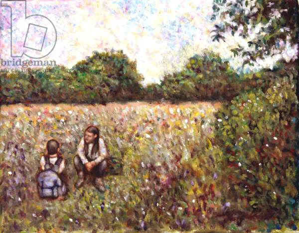 Classmates, 2000, (oil on canvas)