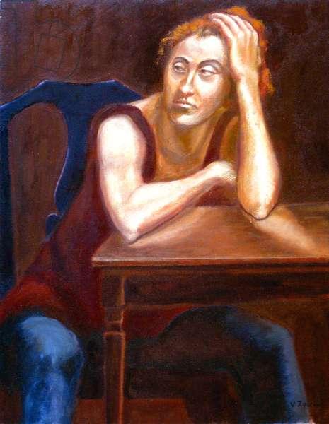 Thinking, 2002,(oil on canvas)