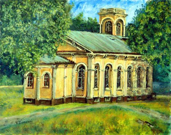 Country Chapel, 1997,(oil on canvas)