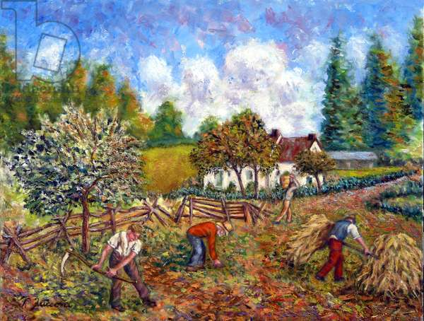 Traditional Farmers, 2019, (oil on canvas)