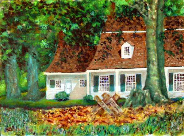 Richmond Town Lake Tysen House, 1997, (oil on canvas)