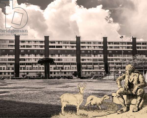 cours progressif de paysage -foglio_170-, 2013, photographic contamination, bi-dimensional