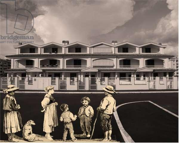 cours progressif de paysage -foglio_171-, 2013, photographic contamination, bi-dimensional