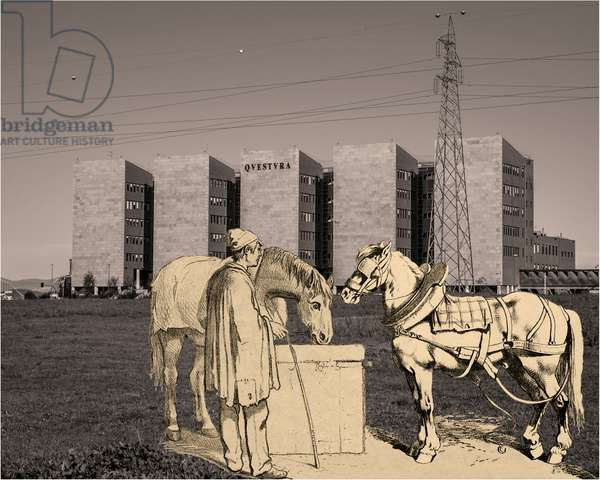 cours progressif de paysage -foglio_174-, 2013, photographic contamination, bi-dimensional