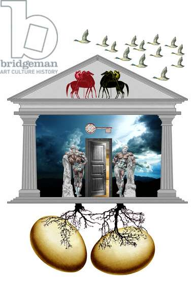 la chiave delle cose nascoste, 2009, collagraph, photographic contamination