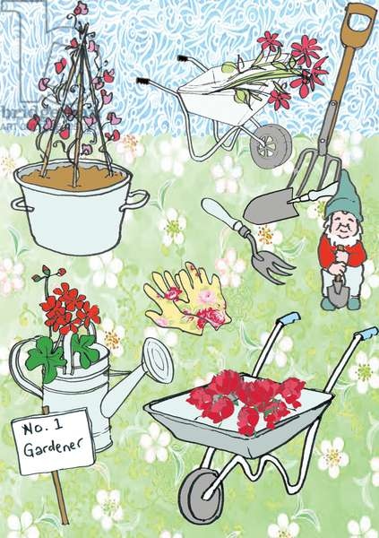 Gardening, 2013 (mixed media digital image)