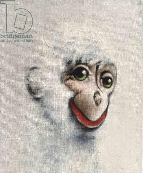 Monkey in White, 2005, (oil on canvas)