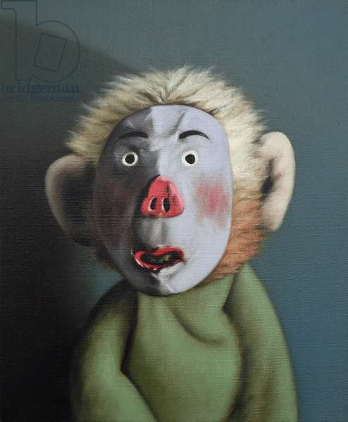 Monkey in Pig Mask, 2005, (oil on canvas)