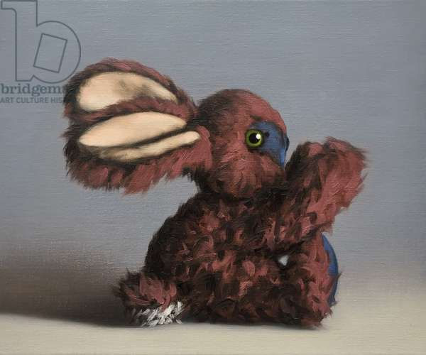 Pink Bunny, 2017, (oil on canvas)