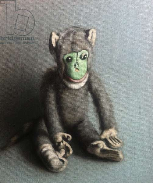 Green Face Monkey, 2006, (oil on canvas)