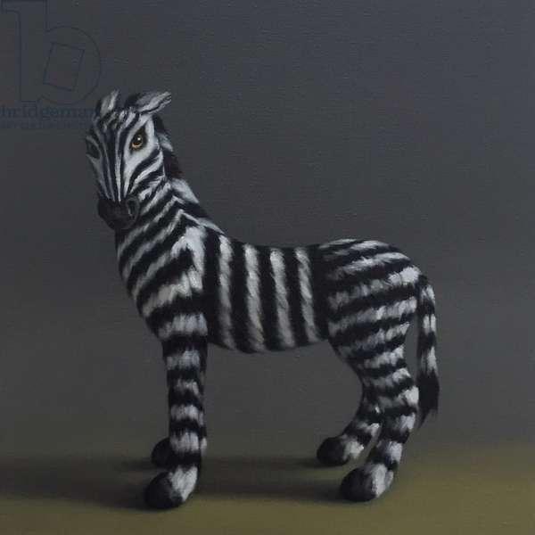 Zebra - After Stubbs, 2018, (oil on canvas)