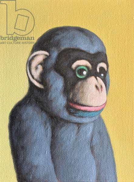 Mauve Monkey on Yellow, 2006, (oil on canvas)