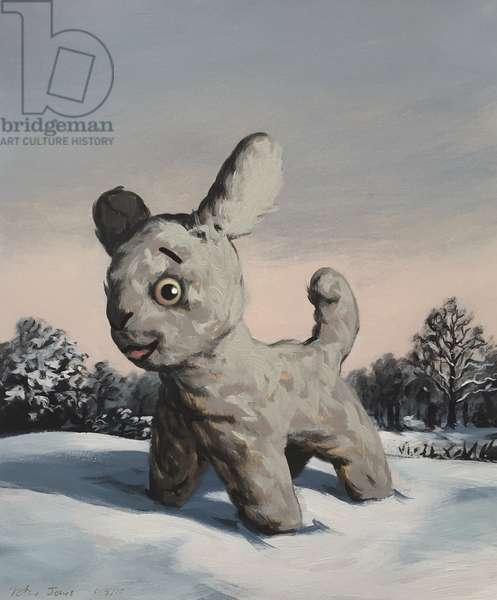 Snowy, 2010, (oil on paper)