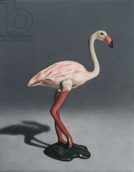 Pink Flamingo, 2014, (oil on canvas)