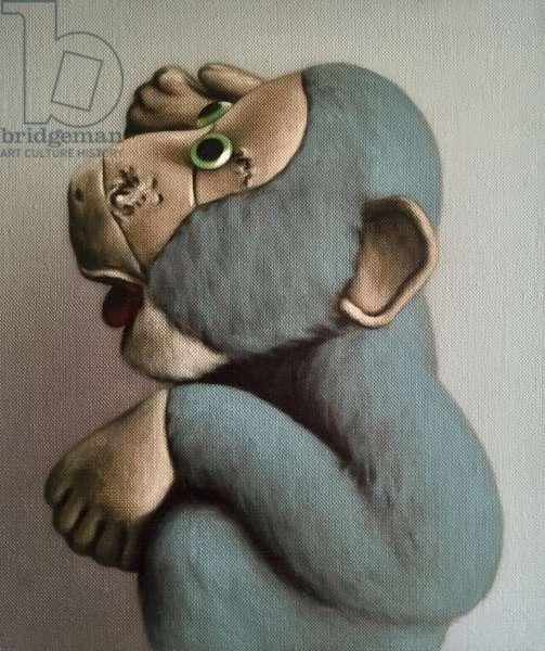 Soft Blue Monkey, 2006, (oil on canvas)