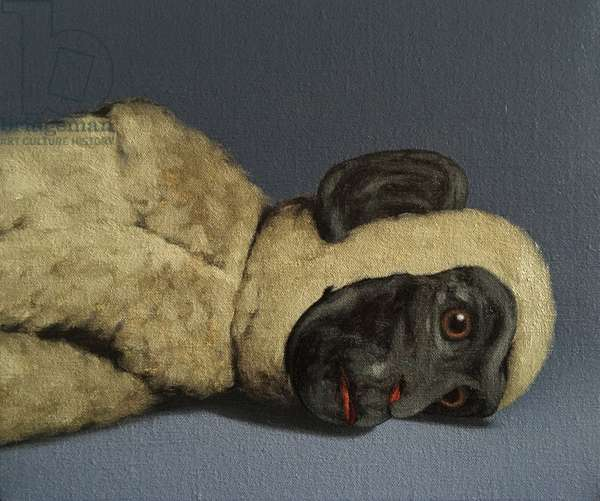 Monkey Still-Life, 2016, (oil on canvas)