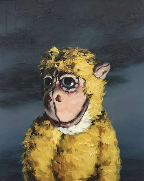 Gold Monkey, 2008, (oil on paper)