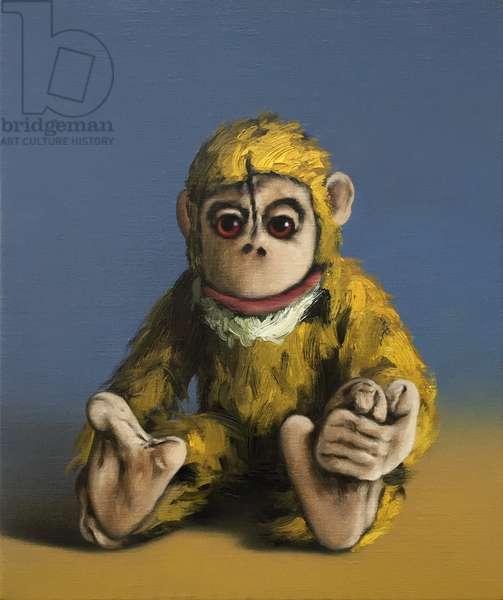 Mustard Monkey, 2017, (oil on canvas)