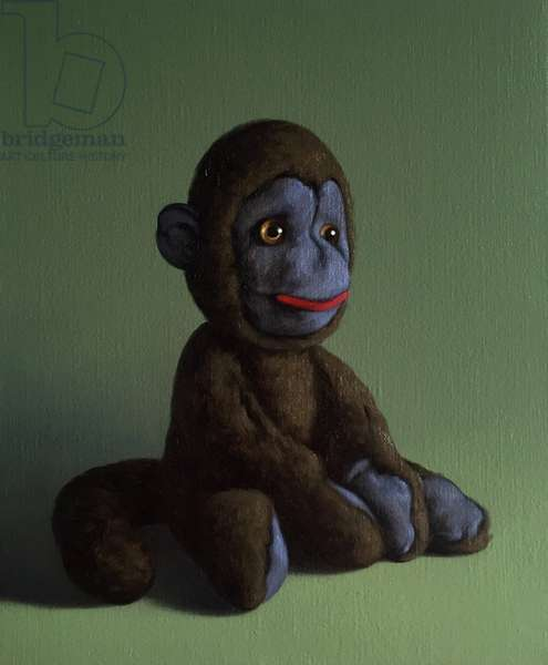 Brown Monkey on Green, 2016, (oil on canvas)