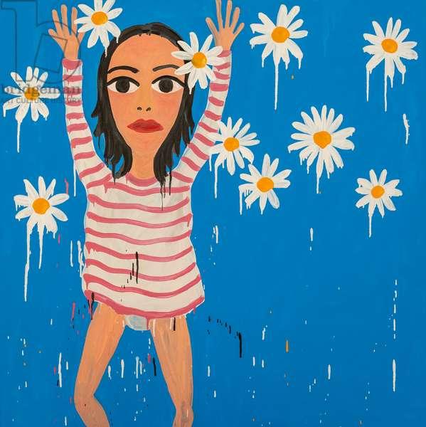 The Daisies Begin to Rain Down, 2019, (oil on canvas)