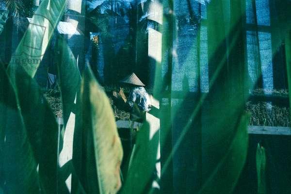 Sifting Through Life, 2014, analogue double exposure photograph