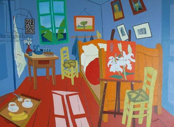 Tea with Van Gogh, 2018, (oil on canvas)