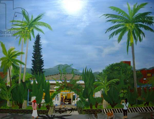 The Dulan Cafe, Taitung sugar factory, 2010, oil on canvas