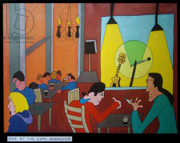 Bar at the Expo, Hannover,2000, (oil on canvas)