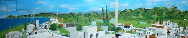 Dulan from Dulan 98 rooftop, 2010, oil on canvas