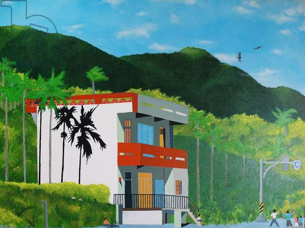 House on Highway 11, Taitung, Taiwan, 2017, (oil on canvas)