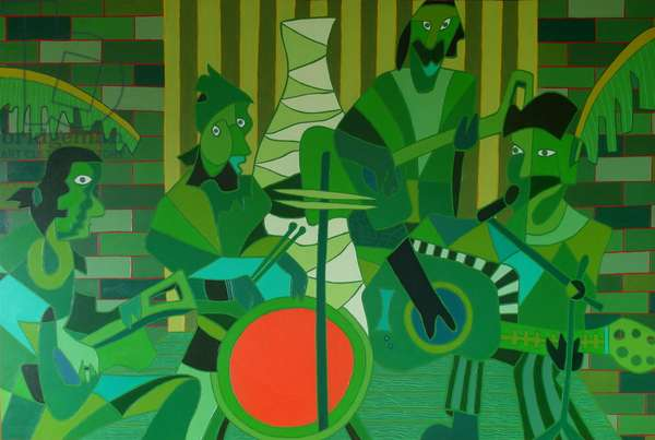 The french vermilion drum, 2012, oil on canvas