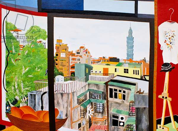 Mangoes in Taipei, Taiwan, 2005, oil on canvas