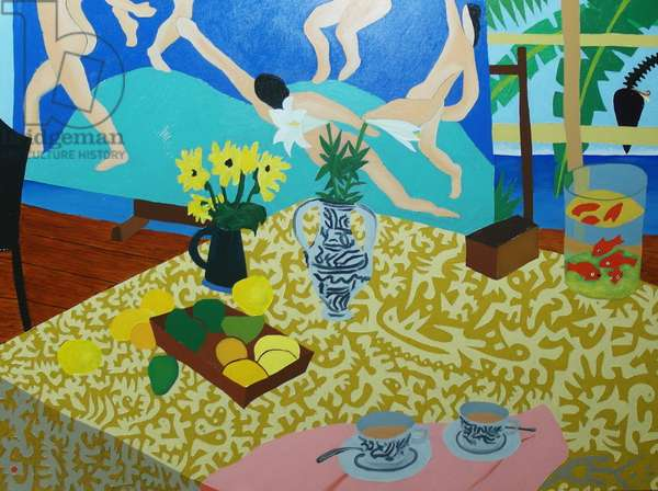 Tea with Matisse, 2014, oil on canvas