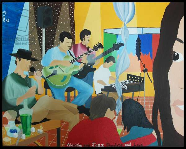 Absinthe and Jazz, Chocolate and Love, 2004, (oil on canvas)
