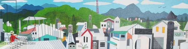 Taitung city rooftop, 2012, oil on canvas