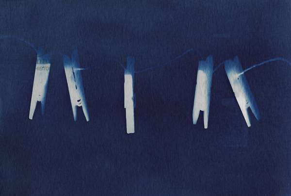 "untitled, ""Stories of absence"" series, 2019, (photography- cyanotype)"