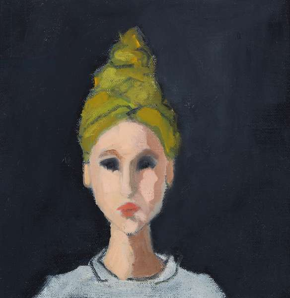 Girl with Green Turban, 2017, oil on canvas board