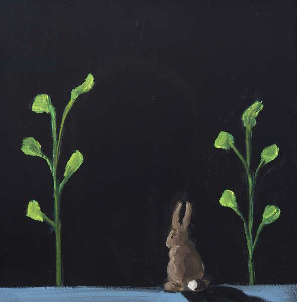 Night Rabbit, 2019, oil on canvas