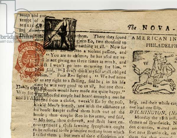 Page from the Halifax Gazette, or The Weekly Adviser', Nova Scotia, 12th-19th December, 1765 (newsprint)