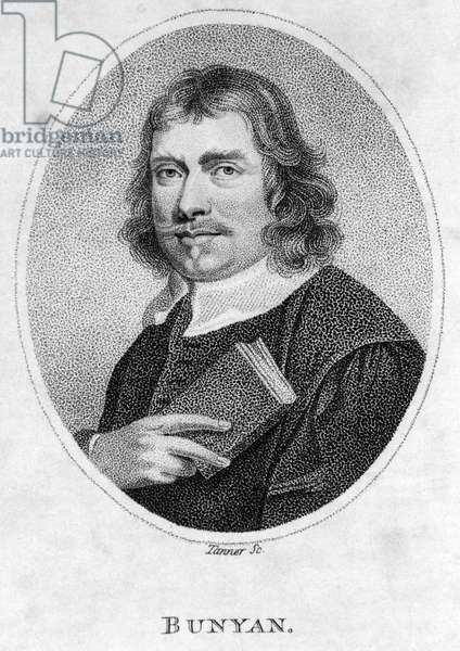 John Bunyan (1628-88) frontispiece to Pilgrim's Progress, 1805 (litho)