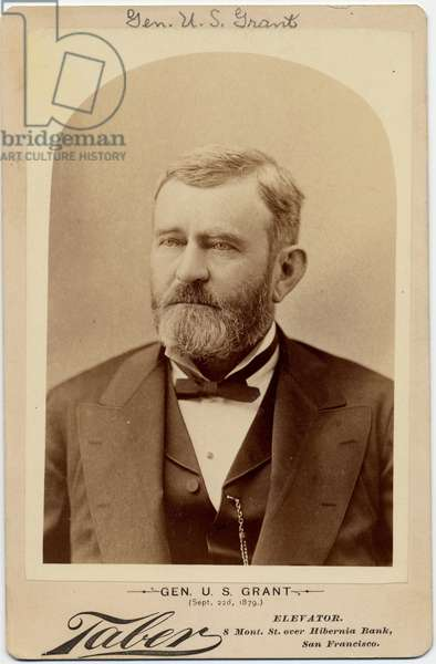 Ulysses Simpson Grant (1822-85), Union Army General, 18th President of the USA (albumen photo)