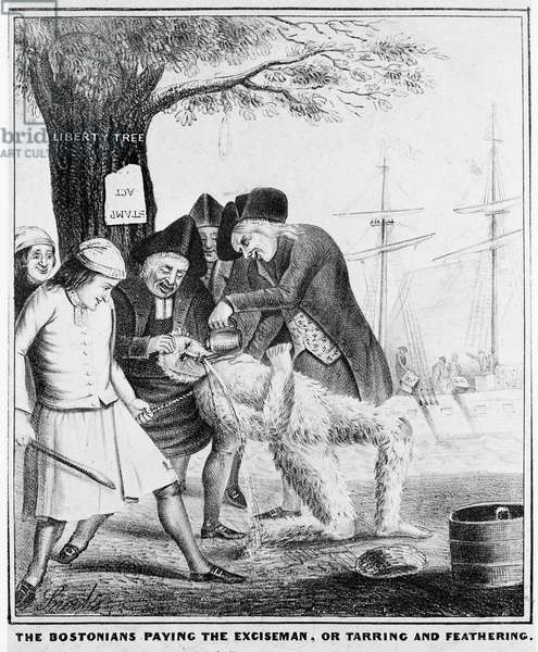 The Bostonians Paying the Exciseman, or Tarring and Feathering (engraving)